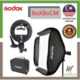 GODOX 80 x 80cm Easy Fold Seepdlite Softbox With S Type Bracket (Ship from Malaysia)